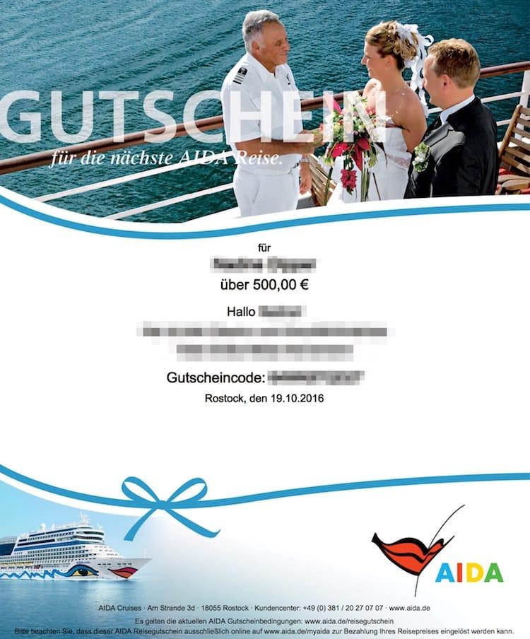 AIDA Gutschein - Die Geschenkidee für alle Zwecke