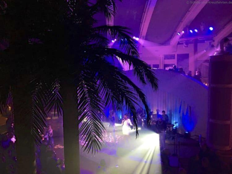 Lasershow im Beachclub