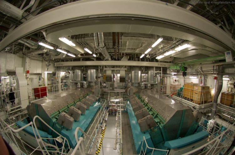Die beiden Hauptmaschinen der AIDAprima stammen von MAK aus Kiel