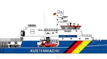 Die Bundespolizei erhält drei neue Einsatzschiffe von der Fassmer Werft in Berne / © Fassmer