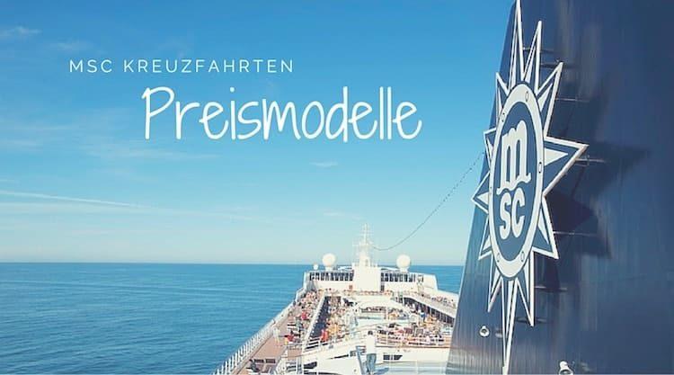 Preismodelle von MSC Kreuzfahrten