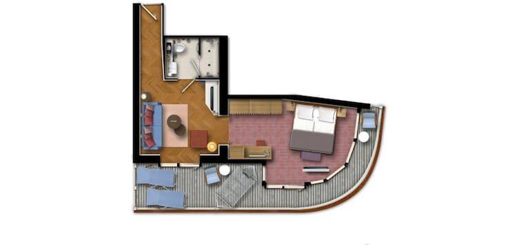 Grundriss Horizont Suite - Neue Mein Schiff 1 / © TUI Cruises