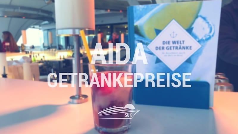 AIDA Getränkepreise