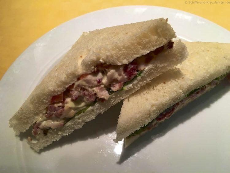 Sandwich im Fuego Restaurant