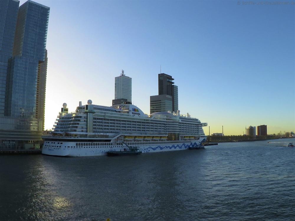 AIDAprima kommt bereits am Mittwoch nach Rotterdam, dafür fällt Zeebrügge aus