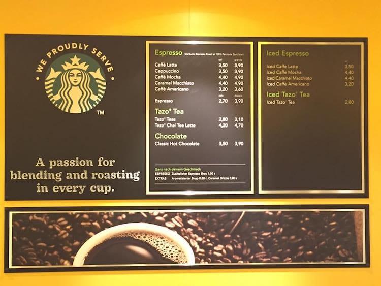 Starbucks preise