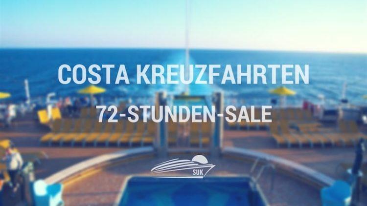 Costa Kreuzfahrten 72-Stunden-Sale