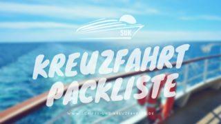 Kreuzfahrt Packliste