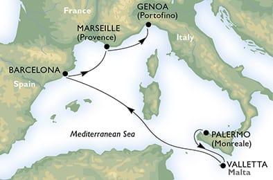 MSC Meraviglia Schnupperkreuzfahrt im Mittelmeer © MSC Kreuzfahrten
