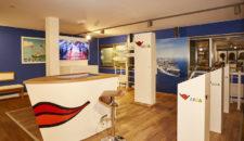 AIDA Lounge im Besucherzentrum der Meyer Werft