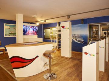 Die AIDA Fernwehinsel im Besucherzentrum der Meyer Werft / © AIDA Cruises
