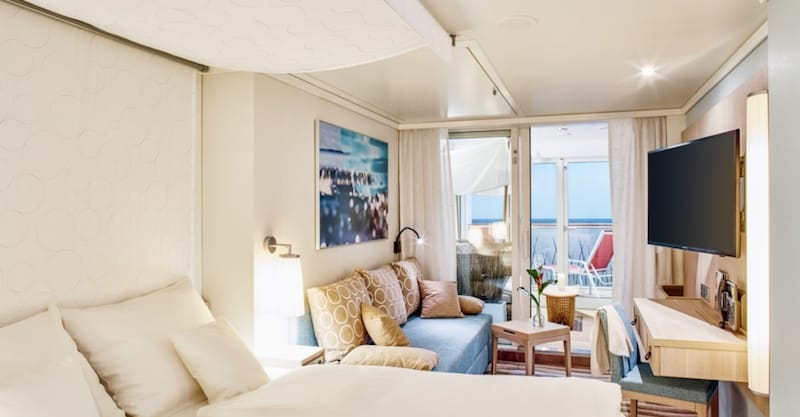 AIDAnova Junior Suite mit Wintergarten (Lanai Kabine) / © AIDA Cruises