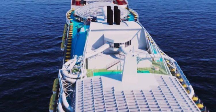 AIDA Wasserrutschen auf der AIDA Helios / © AIDA Cruises