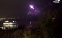 AIDA schickt AIDAcara heute auf erste Weltreise mit großem Feuerwerk in Hamburg