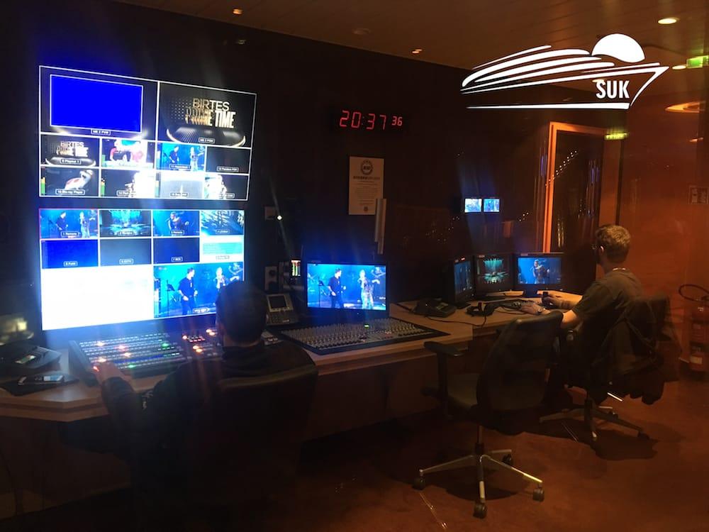 Das bordeigene TV-Studio der AIDAprima