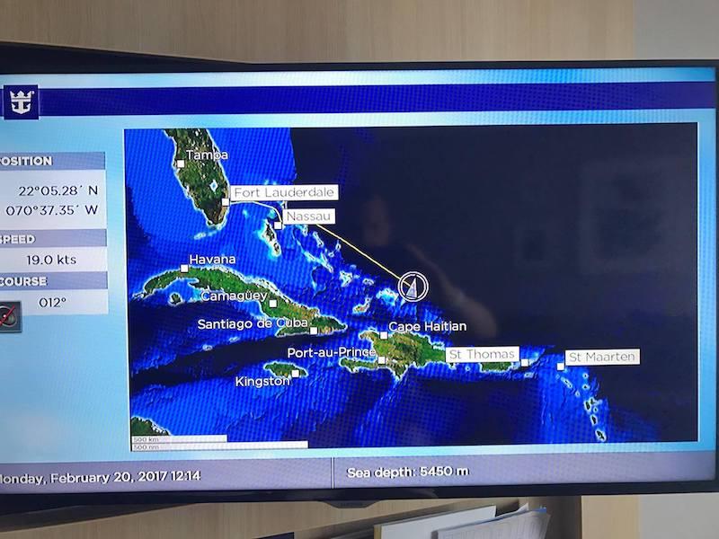Harmony of the Seas drehte Richtung Norden ab - es gibt einen Search and Rescue Einsatz zu dem sie gerufen wurde