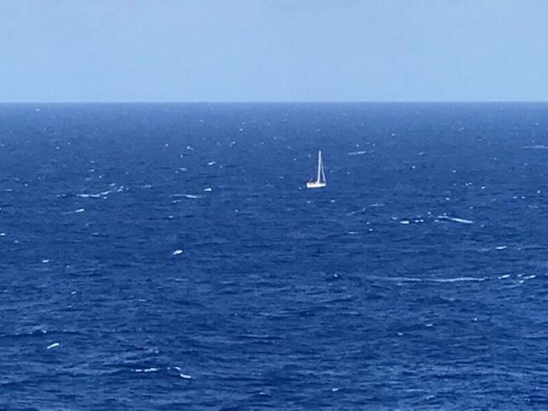 Ein kleines Segelboot hatte den Notruf abgesetzt