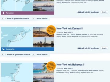 Umroutung der Mein Schiff 6? / © Screenshot TUI Cruises
