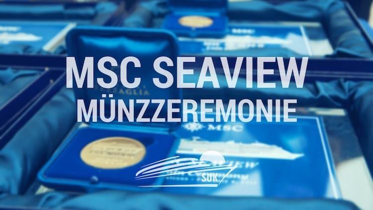 MSC Seaview Münzzeremonie in Monfalcone