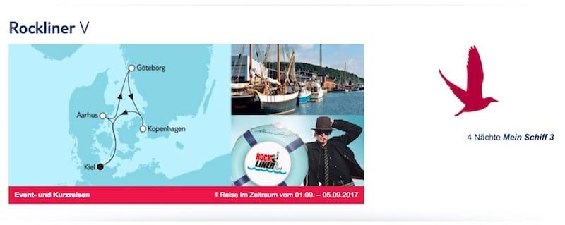 Rockliner 5 auf der Mein Schiff 3 im September 2017 / © TUI Cruises