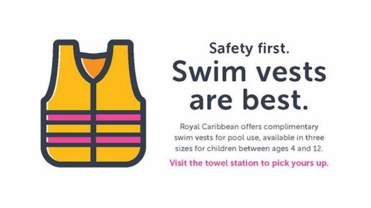Kinderschwimmwesten an Bord der Royal Caribbean Kreuzfahrtschiffe