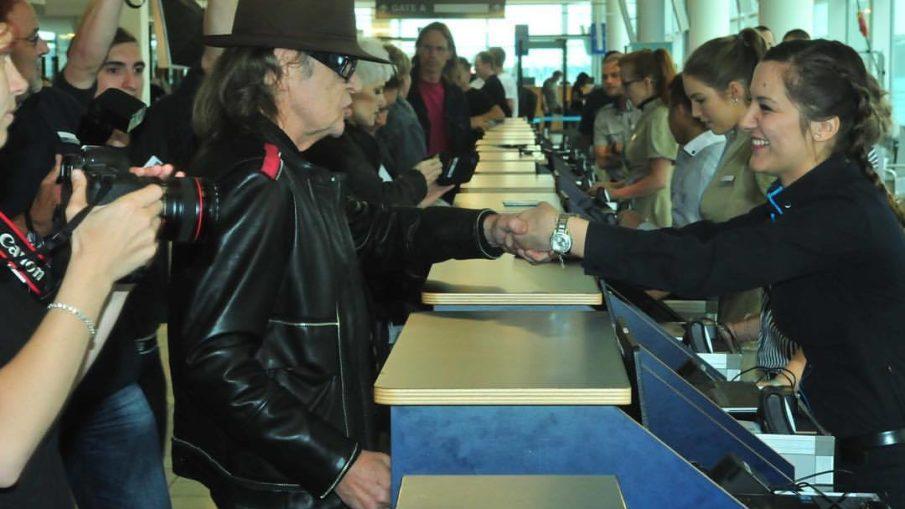 Udo Lindenberg beim Check-In auf die Mein Schiff in Kiel / © Frank Behling