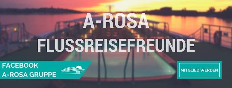 Werde Mitglied in der A-Rosa Flusskreuzfahrten Facebook-Gruppe