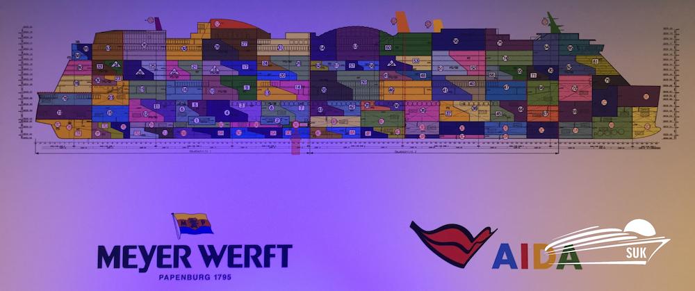 AIDAnova Bauplan - Blockplan / Foto: Behling - Illustration: Meyer Werft