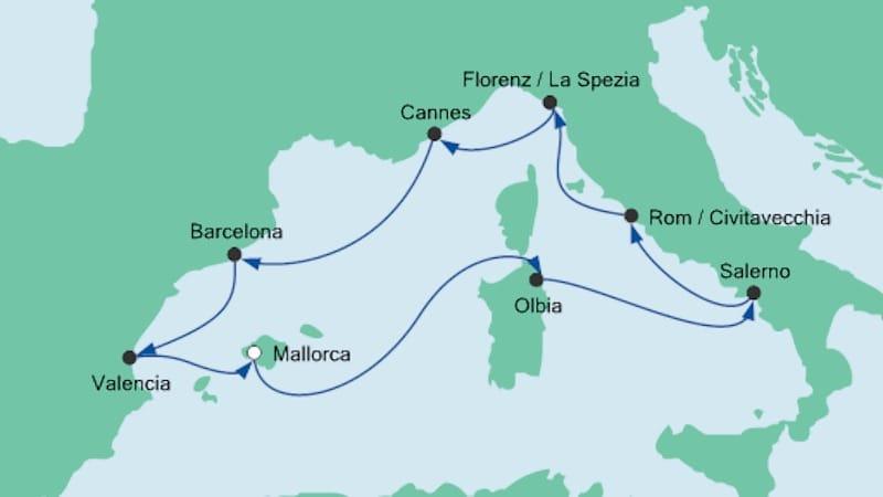 AIDAstella Umroutung am 18.05.2017 im Mittelmeer / © AIDA Cruises