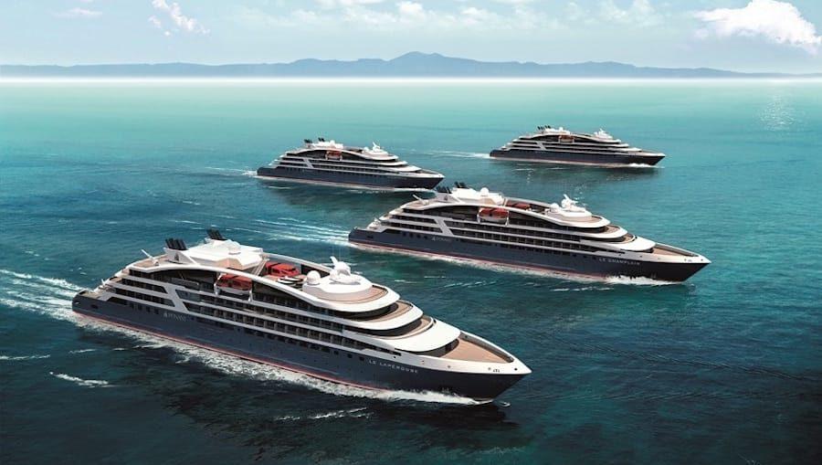Die vier neuen Expeditionsschiffe / © Ponant