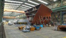Meyer Werft baut Schiffssektionen in Fließfertigung