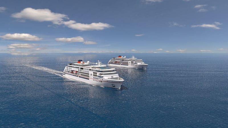 "Die neuen Expeditionsschiffe von Hapag Lloyd Cruises: ""Hanseatic inspiration"" und ""Hanseatic Nature"" / © Hapag Lloyd Cruises"
