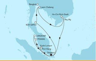 Mein Schiff 3 Asien mit Singapur ©TUI Cruises