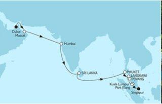 Mein Schiff 3 Dubai bis Singapur ©TUI Cruises