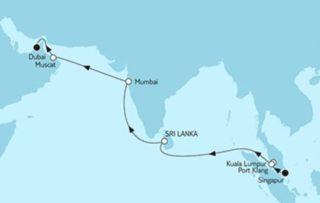 Mein Schiff 3 - Singapur bis Dubai © TUI Cruises