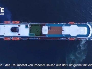 MS Amadea Luftaufnahmen im Hafen von Iquique in Chile / © Youtube User: Iquiquedesdeelaire