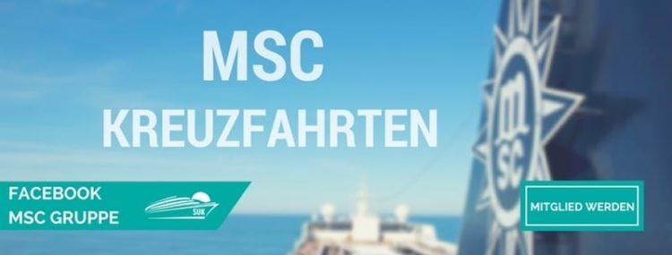 Werde Mitglied in der MSC Kreuzfahrten Facebook-Gruppe