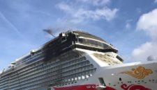 Schlammschlacht auf der Norwegian Joy im Werftbecken
