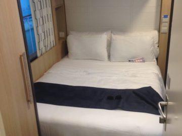 Schlafbereich in der Singlekabine auf der Harmony of the Seas