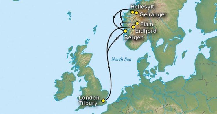 Vegane Kreuzfahrt - Route durch die norwegischen Fjorde / © Vegantravel.eu