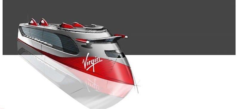 So sehen die Virgin Kreuzfahrtschiffe auf der Konzeptzeichnung aus / © Virgin Voyages