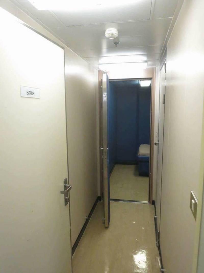 Die Gefängniszelle bzw. Arrestzelle auf einem Kreuzfahrtschiff