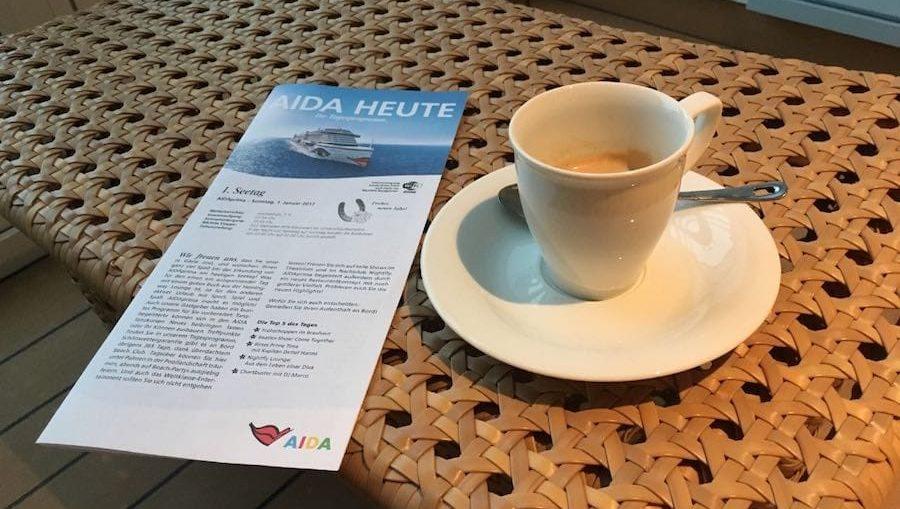 AIDA Heute: Das AIDA Bordprogramm soll es künftig nur noch digital geben