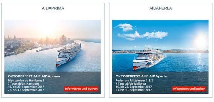 AIDA Wiesn - Oktoberfest auf AIDAprima und AIDAperla / © AIDA Cruises