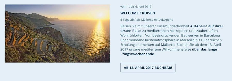 AIDAperla Fanreise 1 - Welcome Reise 1 vom 01. Juni bis 06.Juni 2017 / © AIDA Cruises