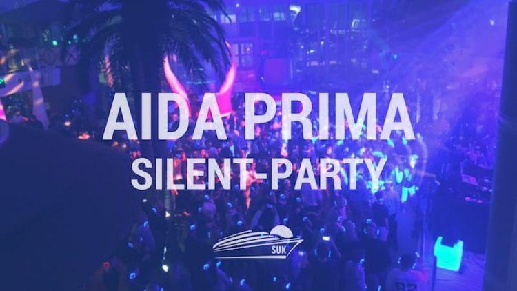 Silent Party auf der AIDAprima in Rotterdam