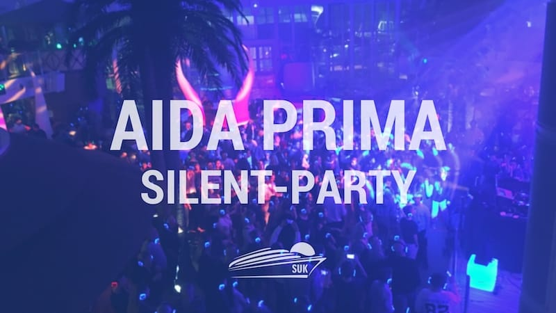 Silent Party auf der AIDAprima in Rotterdam