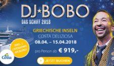 DJ Bobo Kreuzfahrt mit Costa Deliziosa