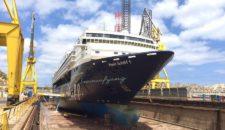 Mein Schiff 1 kommt frisch renoviert aus der Palumbo Werft (Bilder)