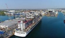 MSC Seaside: Luftaufnahmen aus der Werft